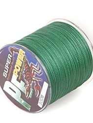 300M / 330 Yards PE Braided Line / Dyneema / Superline Fishing Line Green 50LB 0.32 mm ForSea Fishing / Fly Fishing / Bait Casting / Ice