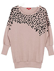Mufans Women's Leopard Long Sleeve Coat  0720