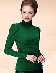 incern®women hohen Kragenspitze Samt Bluse (mehr Farben)