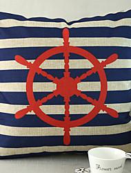 1 pcs Cotton/Linen Pillow Cover,Nautical Beach Style