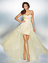 Homecoming Dress Sheath/Column Sweetheart Sweep/Brush Train Chiffon