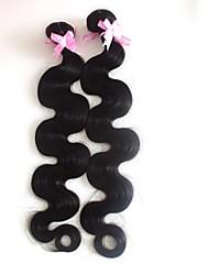 20-Zoll-2pcs / set Klasse 5a brasilianische Menschenhaarkörperwelle Haarverlängerungen / webt