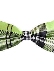 Black&Green Checked Bow Tie