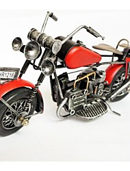 Red Iron Motorcycle Color Model Handicraft Furnishing Articles (Picture Color)