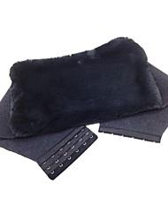 Deep Grey Adjustable Cashmere Wool Body Waist Warm Wrap Support