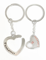 """""""You Are Always in My Heart"""" Keychain - Set of One Pair"""
