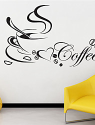 Still Life Wall Stickers Coffee Cup Pattern 40cm x 60cm JiuBai™ Wall Decal