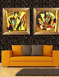 e-HOME enmarcado arte de la lona, los patrones geométricos abstractos conjunto de impresión lienzo enmarcado de 2