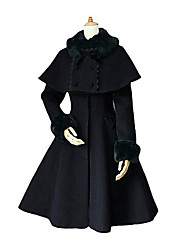 Long Sleeve Deluxe Velvet Aristocrat Lolita Coat with Shawl