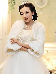 Wedding Wraps Trumpet Sleeve Faux Fur Warm Bridal Wedding Wrap / Evening Jacket Bolero Shrug