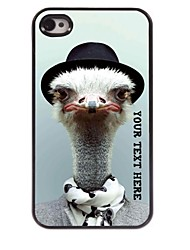 Personalized Phone Case - Ostrich Design Metal Case for iPhone 4/4S