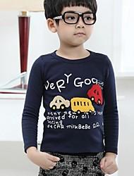Boy's Car Print Long-sleeved T shirt