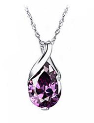 Чистые женщин 925 посеребренные высокое качество ручной работы элегантный кулон ожерелье включают