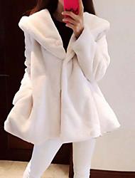 manches longues manteaux de fourrure Mode Slim tempérament cravate v-cou de rebecca femmes