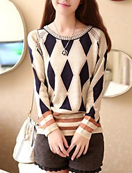 Women's Round Collar Fashion Elegant Knitwear Pullover