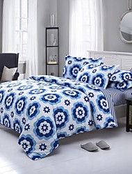 Mingjie Blue Flowers Sanding Bedding Sets 4pcs Duvet Cover Sets Bed Linen China Queen Size and Full Size