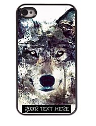 caso de telefone personalizado - caso projeto do lobo de metal iceberg para iPhone 4 / 4S