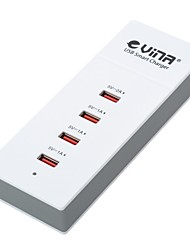 Vina ups-001 5A Safety Smart High Speed Power Adapter with 4-Port USB - White and Gray (US Plug)