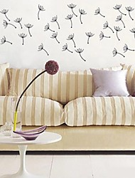 E-HOME® Metal Wall Art Wall Decor, The Dandelion Flying Wall Decor Set of 9