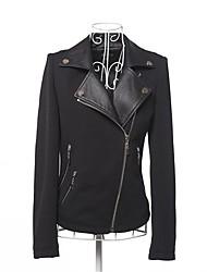 Faux Leather Jacket Women's Brief Paragraph Small Suit PU Jacket