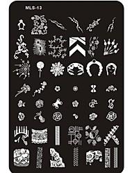 Lovely Nail Art Stamping Image Plate Nail Art Template Nail Stencil No.13