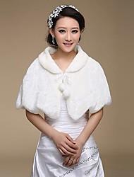 Wedding  Wraps / Fur Wraps Capelets Faux Fur Ivory Wedding / Party/Evening Lace-up