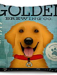 cão de algodão de ouro / fronha decorativo linho