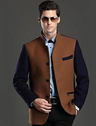 Men's Long Sleeve Regular Coat , Wool Blend