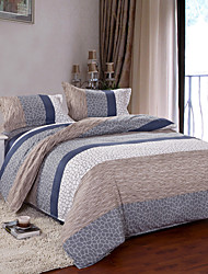 Mingjie® Grey Sripes Queen and Twin Size Sanding Bedding Sets 4pcs for Boys and Girls Bed Linen China Wholesale