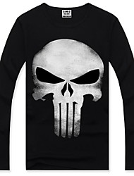 Men's Rock Boy High Quality Personality Cotton Long Sleeve T-shirt