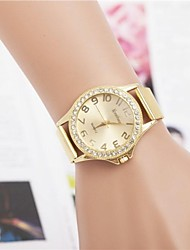 Damen Quartz Legierung Band Gold Gold