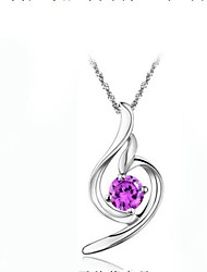 Ladies' Silver Necklace With Crystal
