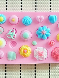 Buttons Fondant Cake Silicone Mold Cake Decoration Tools,L10.3cm*W7cm*H1cm