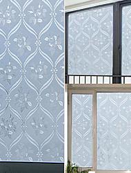 pays blanc élégant fenêtre floral film - 0,5 x 5 m (1,64 × 16,4 pi)