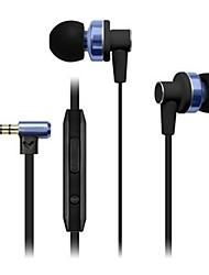 lige i68 baixo pesado fone de ouvido com microfone resposta / play / pause para muisc iphone6 / iphone6 mais