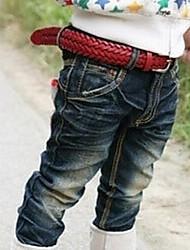 pantalones de mezclilla coreano de la muchacha