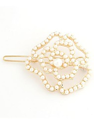 Rose Personality Exquisite Fashion Pearl Hairpin