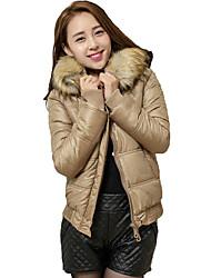 KICAI Women's Fitted Fur Neck Short Coat