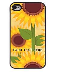 personalizzato del telefono caso - girasoli caso di disegno del metallo per il iphone 4 / 4s
