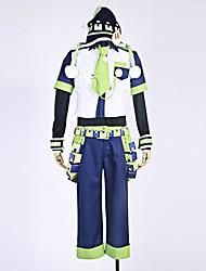 Inspiriert von Dramatical Murder Noiz Anime Cosplay Kostüme Cosplay Kostüme Patchwork BlauT-Shirt-Ärmel / Shirt / Hosen / Hut / Krawatte