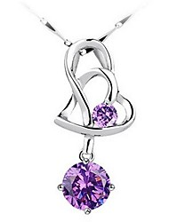 Ladies' Silver Necklace With Crystal Chain