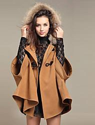 Baoli Women's Winter Fashion Elegant Woolen Slim Coat 3465