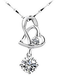 Ladies' Silver Pendant With Crystal