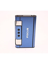 Creative Aluminum A Key Embedded Automatic Smoke Cigarette Lighter Silver Blue Black
