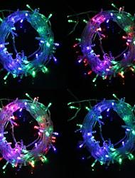 10M 9.6W Christmas Flash 100-LED RGB Light Strip Light Lamp (EU Plug , AC 220V)