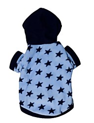 Cat / Dog Hoodie Blue Dog Clothes Winter Stars