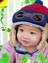 crianças com cor de veludo cap piloto quente