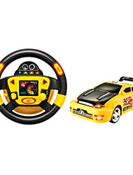 Goldlok 2309-02 RC Car Simulation of Steering Wheel Full Function Remote Control Toy Car with Light Horn