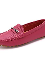 Women's Shoes Round Toe Flat Heel Calf Hair Loafers Shoes More Colors available