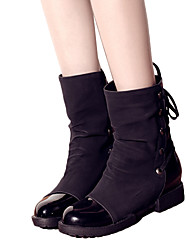 anxy женская повязка мяч боек замши низкий каблук ботинка
